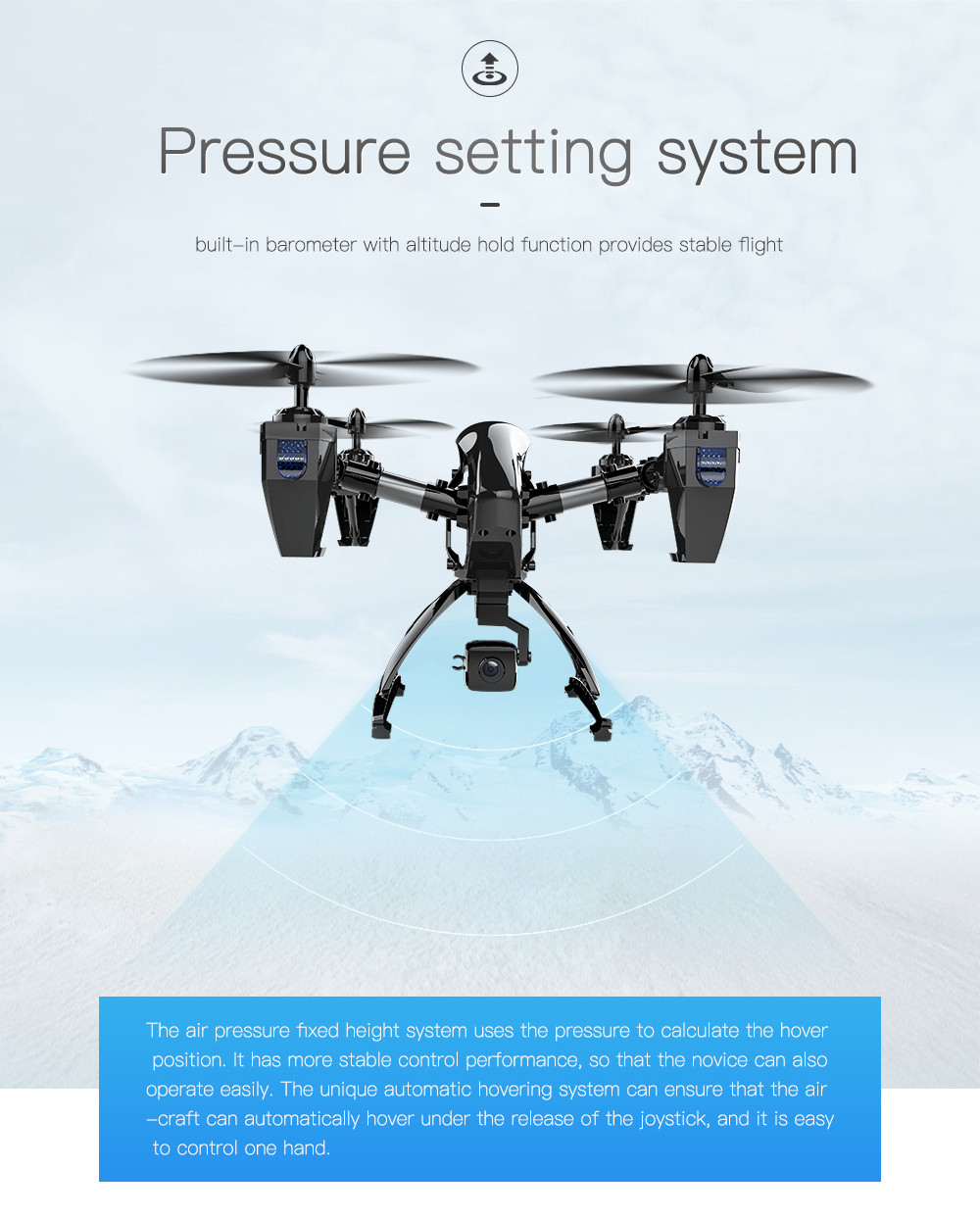 Aititude Hold 2.4G WiFi RC Quadcopter 6-Axis Gyro 2MP HD FPV Drone Helicopter FOR   new arrival 4