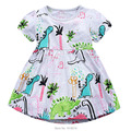 New 2017 Brand Quality 100% Cotton Summer Baby Girls Dress Short Sleeve Children's Clothing Summer Kids Dress Baby Girls Clothes