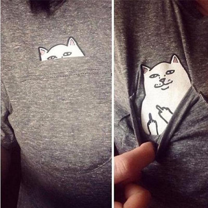 HTB1zkdzQpXXXXciXpXXq6xXFXXXE - Pocket Cat T-shirt