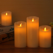 LED electronic flameless candle lights+10 keys remote control large DIA simulation candle lamp pary wedding birthday festival