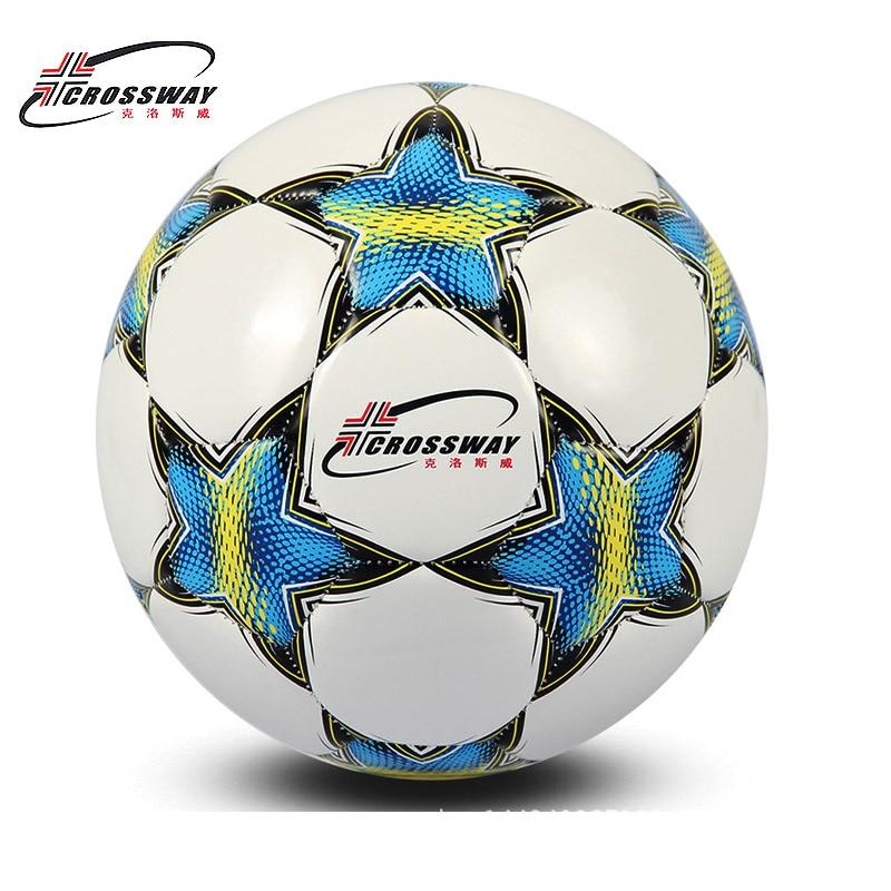 CROSSWAY ბრენდის საფეხბურთო ბურთი Soccer Ball ზომა 5 ოფიციალური საწინააღმდეგო Slip PU Slip- რეზისტენტული სტანდარტული მატჩის ტრენინგი ჩემპიონთა ფეხბურთი