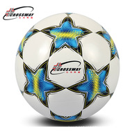CROSSWAY Brand Football Ball Soccer Ball Size 5 Official Anti slip PU Slip Resistant Standard Match Training Champions Football