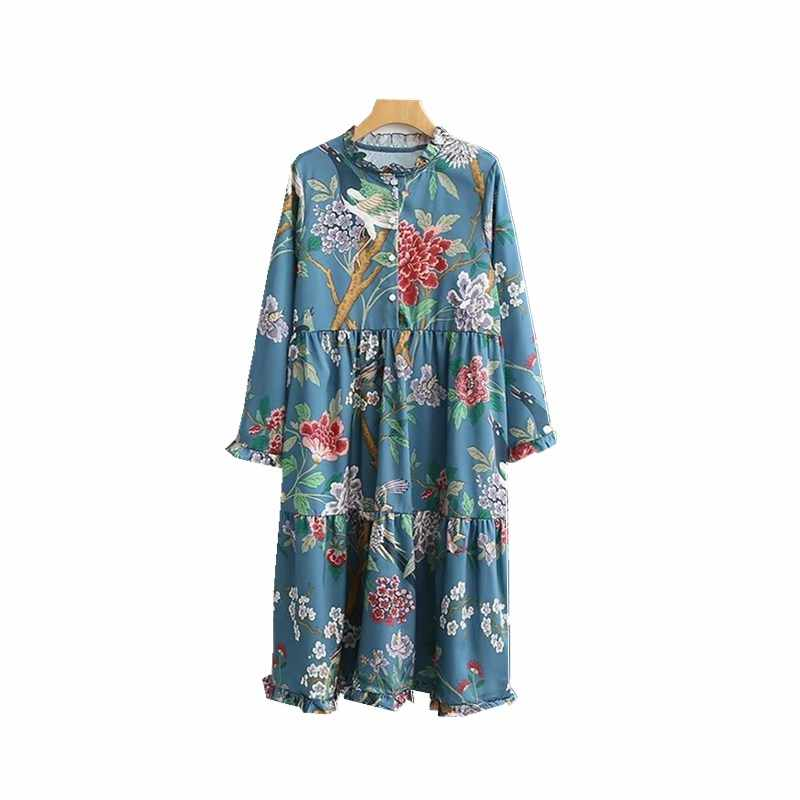 ffced6be37186 Detail Feedback Questions about Women Flowers Birds Print Long Maxi ...