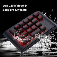 Портативный 19 ключей Мини Цифровая Проводная клавиатура с USB Подсветка номер цифровая клавиатура для настольного компьютера ноутбука