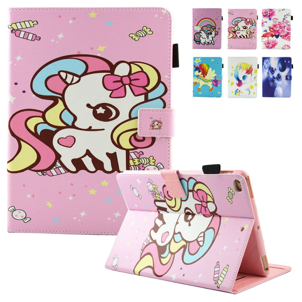 For Coque iPad 2017 Case 9.7 inch Tablet Cute Cartoon Print Kid Leather Protector Cases Cover for New iPad 9.7 2018 Air 1 Air 2 universal pu leather case for 9 7 inch 10 inch 10 1 inch tablet pc stand cover for ipad 2 3 4 air 2 for samsung lenovo tablets