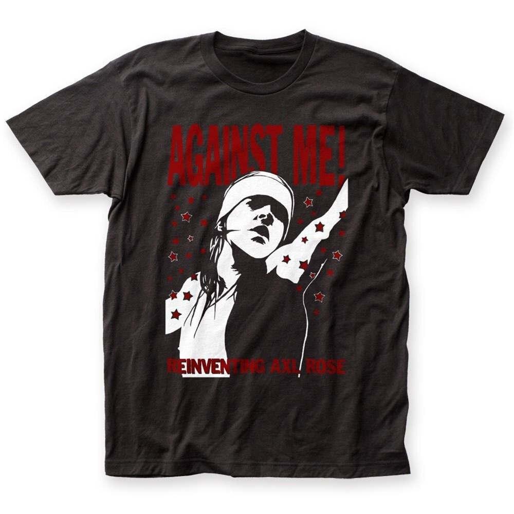 2018 Fashion Brand Official Against Me! Reinventing Axl Rose Album Cover T-shirt S M L XL 2XL top Fashion Men T Shirt Clothing P