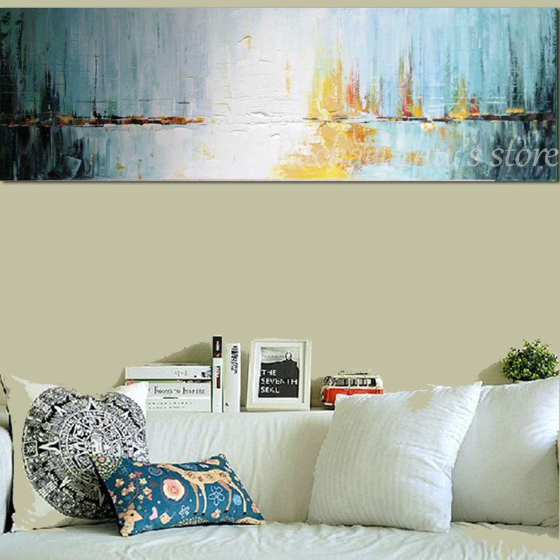 Купить с кэшбэком Large Hand Painted Modern Abstract Green Black Color Texture Oil Painting on Canvas Living Room Wall Picture Painting Home Decor