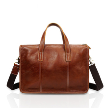 все цены на Messenger Bag Men Genuine Leather Shoulder Bag Mens Crossbody Handbag Bag Male Briefcase for Business Vintage Travel Casual Tote онлайн
