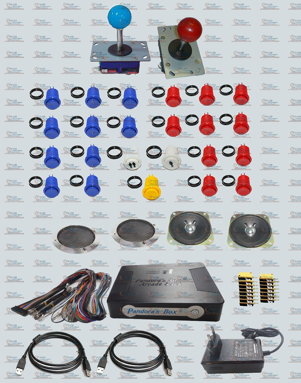 Kit de faisceaux de pièces d'arcade avec boîte Pandora 4 S Arcade Stick plateau de jeu Joystick Long arbre boutons de style américain faisceau de câbles