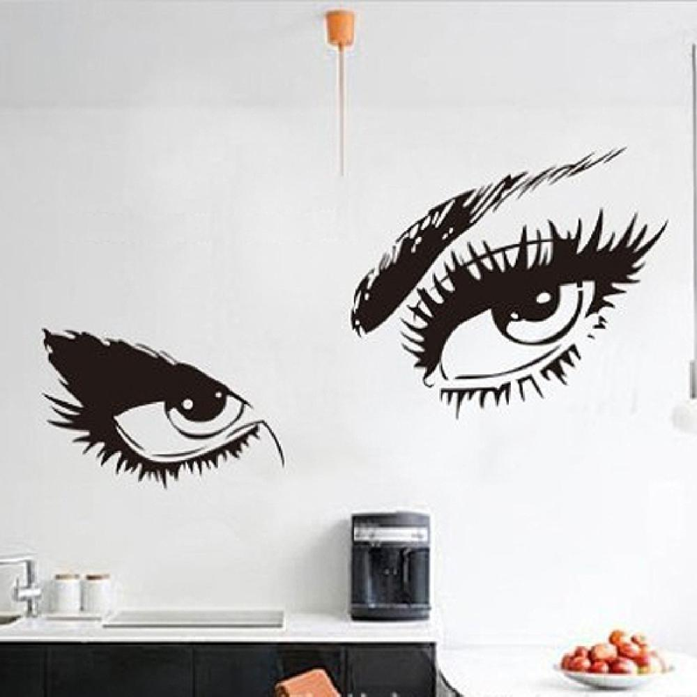 Aliexpresscom Buy New HOT Hepburns Sexy Eyes Wall Decals - Vinyl stickers designaliexpresscombuy eyes new design vinyl wall stickers eye wall