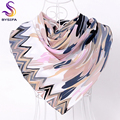 [BYSIFA] Grey Pink Floral Muslim Head Scarf Shawl Fashion Winter Accessories Twill Neck Scarf Spring Autumn Apparel Accessories