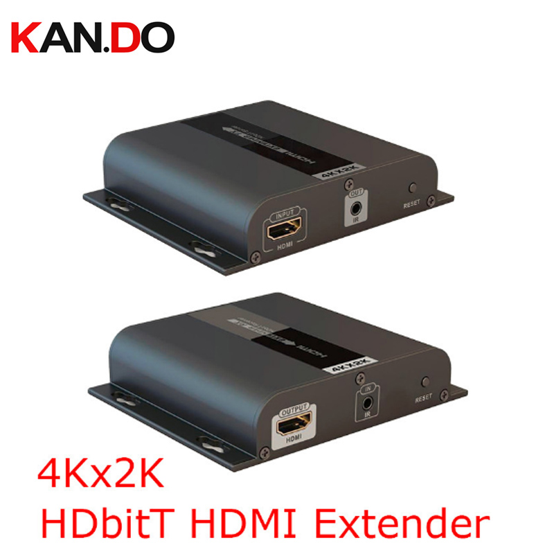 383-4k 4K*2K HDbitT HDMI Extender Up To 120m LAN Repeater Over CAT5/5e/6 IR Transmits HDMI V1.4 HDCP Video Transmission