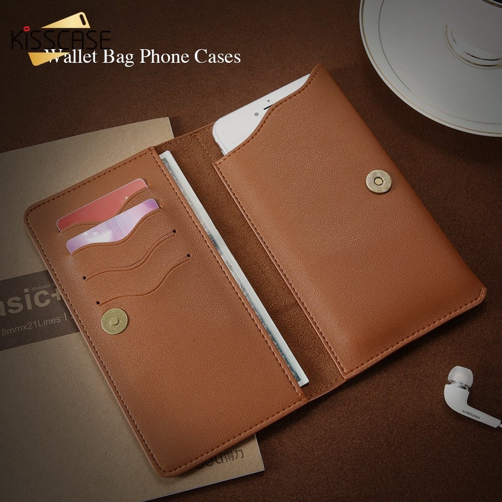 Image 2 - KISSCASE Luxury Durable Leather Wallet Pouch Phone Case For iPhone Samsung Huawei Xiaomi Meizu Cover Mobile Phone Bag Cases-in Phone Pouches from Cellphones & Telecommunications