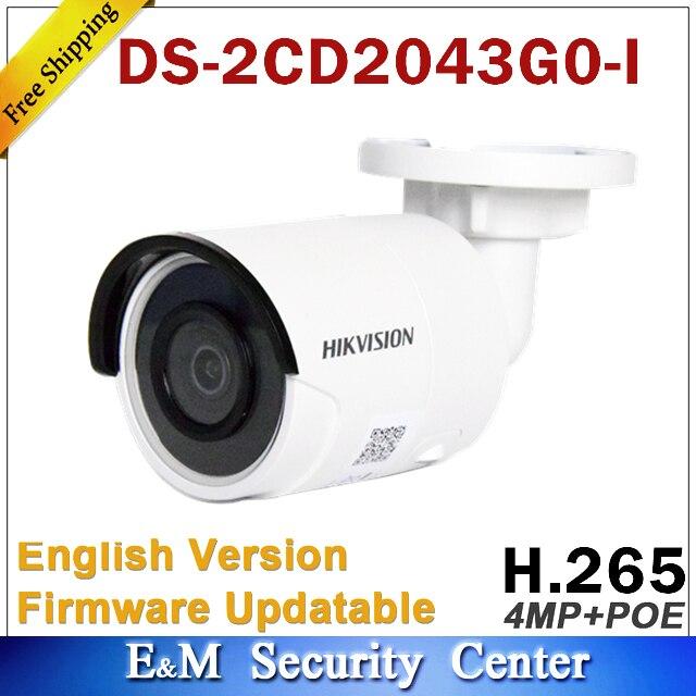 Hik original DS-2CD2043G0-I substituir DS-2CD2042WD-I 4mp poe rede bala câmera sistema de segurança atualização monitor ao ar livre