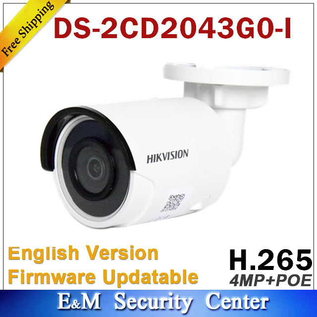 Original Hik DS-2CD2043G0-I Replace DS-2CD2042WD-I 4MP POE Network Bullet Camera Security System Upgrade Outdoor Monitor