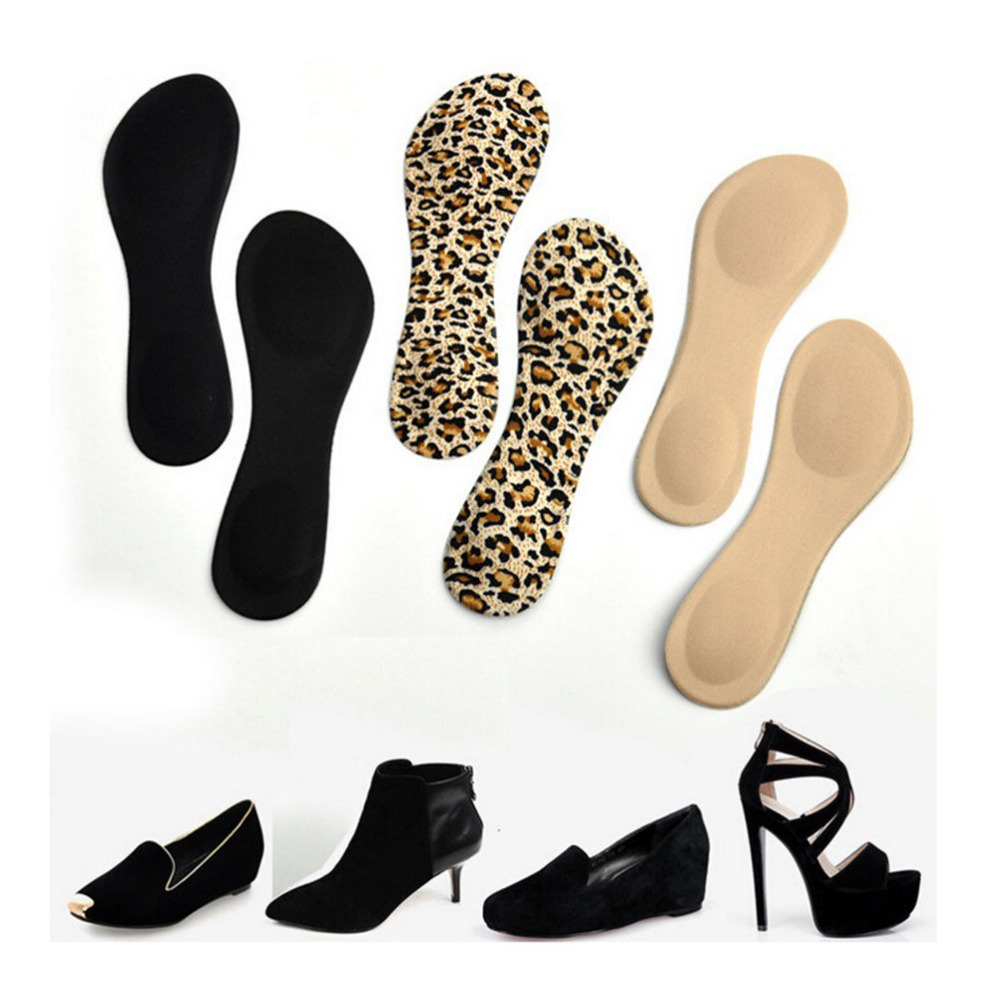 High Heels Sponge 3D 4D Shoe Insoles Cushions Pads DIY Cutting Sport Arch Support Orthotic Feet Care Massage 1 Pair Women high heels sponge 3d 4d shoe insoles cushions pads diy cutting sport arch support orthotic feet care massage 1 pair women
