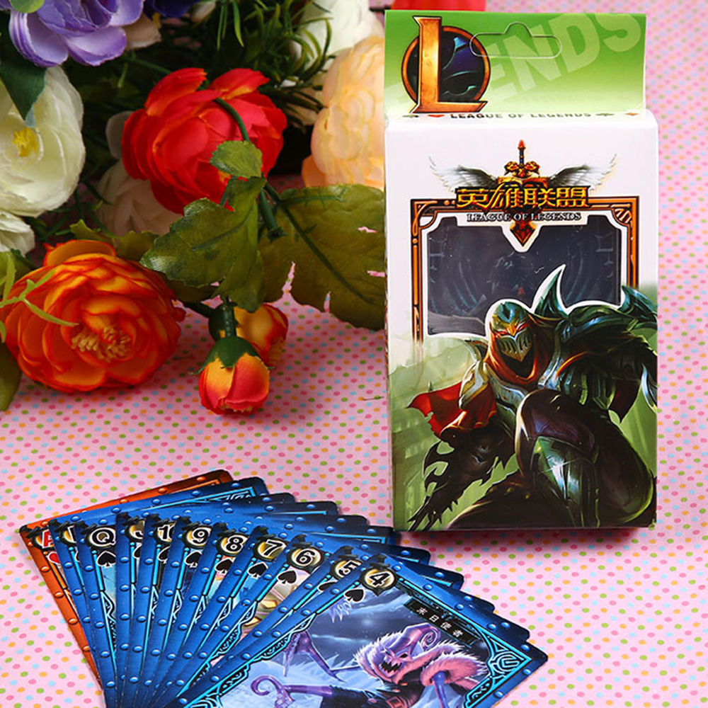 2017 Game Poker Lol Character Texas Hold'em Poker Card Home Party Playing Cards Magic Tricks Training Poker Card For Begainner