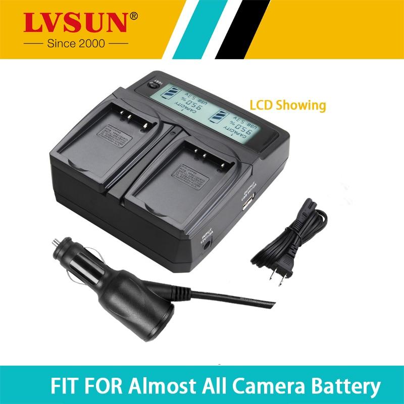 LVSUN AHDBT-301 302 201 chargeur de batterie de caméra avec Port USB écran LCD de charge pour Canon Sony Gopro Hero 3 3 + 3 Plus