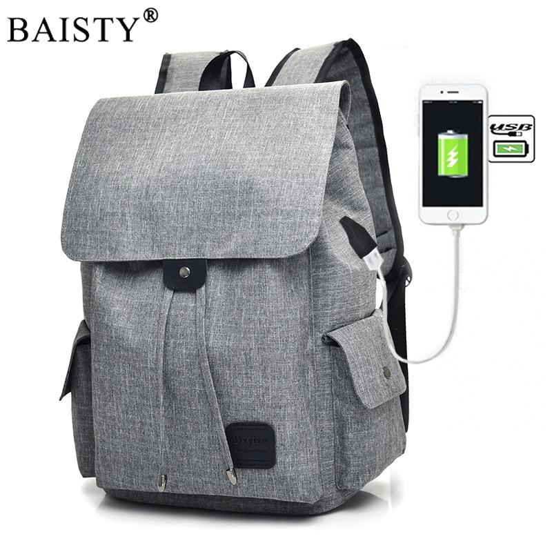 Large Capacity 15.6 Inch Laptop Oxford Bag Man USB socket Design Backpack Black Backpack women School Bags Unisex 2019 New TrendLarge Capacity 15.6 Inch Laptop Oxford Bag Man USB socket Design Backpack Black Backpack women School Bags Unisex 2019 New Trend