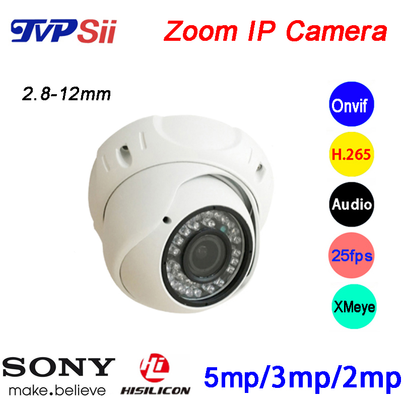 36pcs infrared Led 2 8mm 12mm Lens Varifocal Waterproof 5MP 3MP 2MP H 265 25Fps ONVIF