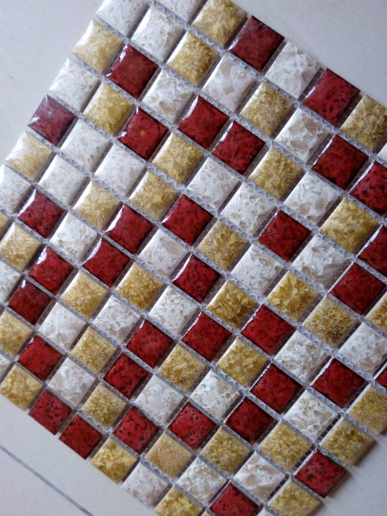 Vierkante keramische kiezel mozaïek tegel keuken backsplash badkamer ...