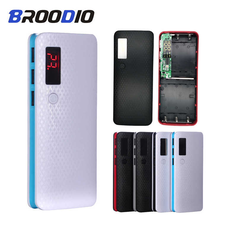 5*18650 Power Bank Case 3 USB Port Battery Holder Mobile Phone Charger Box Digital LCD Display Charging Shell DIY For Xiaomi