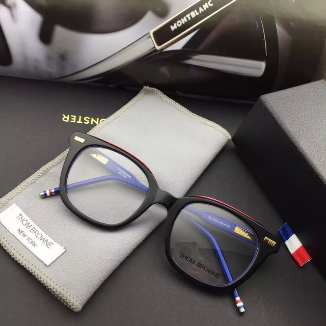 93f2c4d840e Sale THOM BROWNE Eyeglasses Frames glasses New York Brand TB-405-A Optical  Frame Oculos De Grau original case High quality