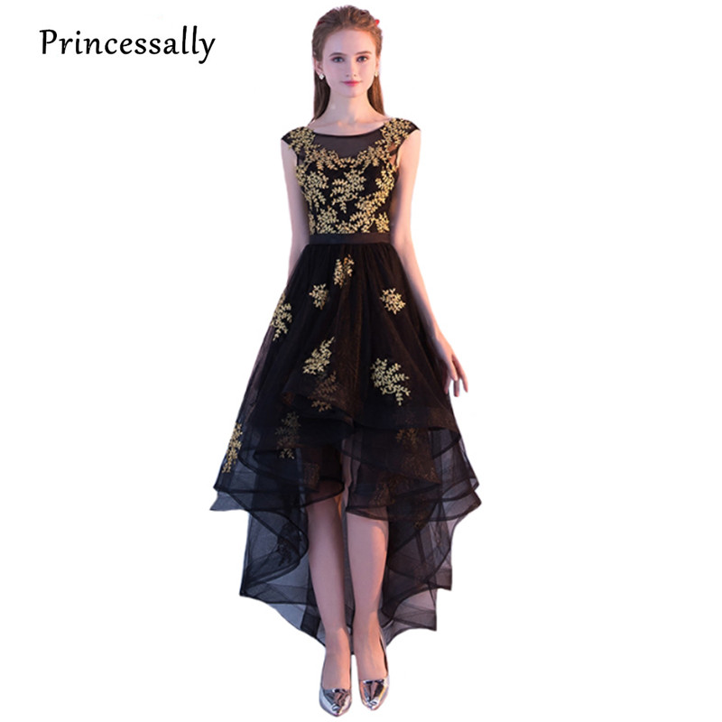 Popular Gold and Black Lace Evening Gown-Buy Cheap Gold and Black ...