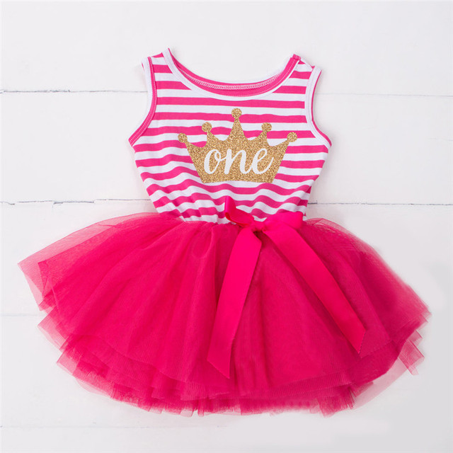 Baby Kids Party Jurken Outfits Kinderen Meisje 1 2 3 Jaar Verjaardag