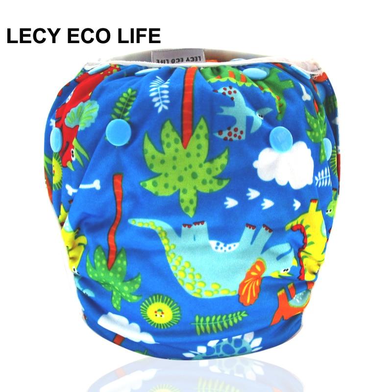 LECY ECO LIFE baby infant swim diapers, baby cloth diaper for swimming, Reusable Adjustable swim diaper pants Swimwear Swimsuit цена