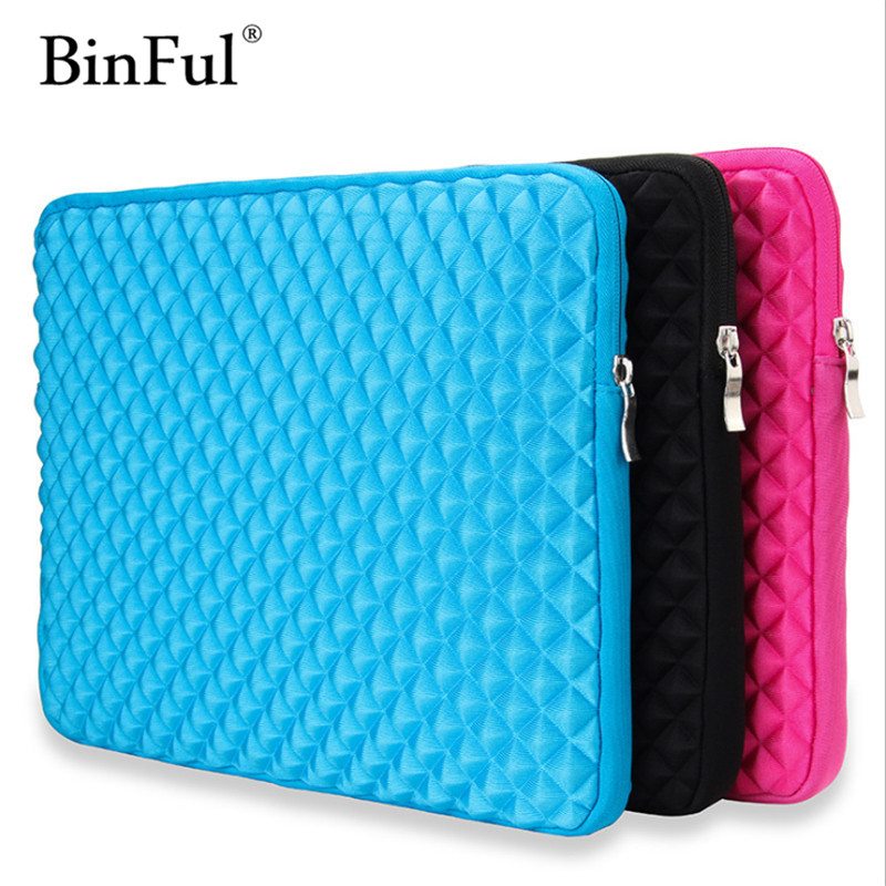 BinFul Soft Sleeve Laptop Bags Portable Zipper Notebook Laptop Case Pouch Cover For Macbook Air Pro Retina 11 12 13 15 Inch