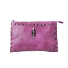 Medium studded leather-based messenger crossbody satchel purse leather-based crossbody bag sale Classic Women crossbody clutch baggage