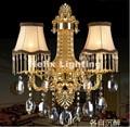 Хрустальные настенные светильники  2 фонаря  золотые настенные бра  светодиодные настенные бра с кристаллами переменного тока  бра  покрыты...