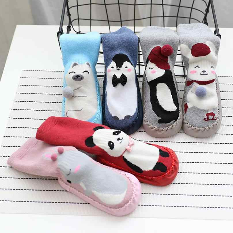 Hot Sale Fashion Cartoon Newborn Baby Girls Boys Anti-Slip Socks Slipper Bell Shoes High Quality Boots Baby Socks Dropshipping