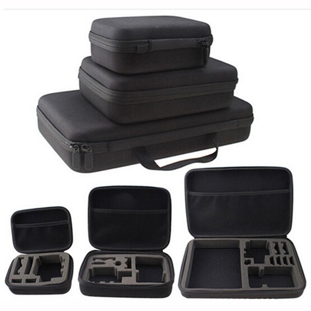 EastVita Portable Carry Case Hard Bag Sports Camera Accessory Anti-shock Storage Bag For Go Pro Hero 3/4 SJCAM Action Camera