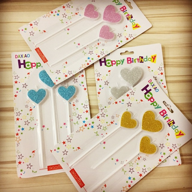 3pcs Birthday Candle Multi Color Love For Kids Happy Birthday Party