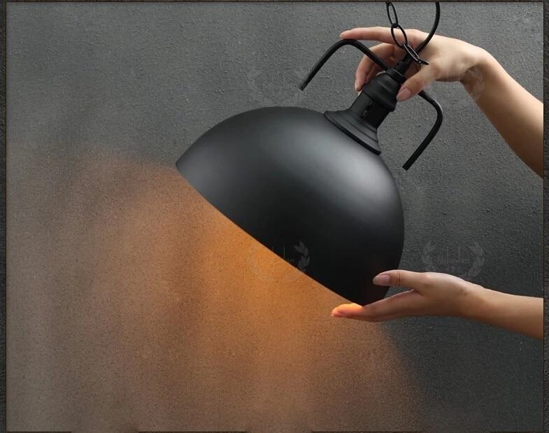 Obesek svetilke 30 cm hemisfere luč vintage industrijski slog - Notranja razsvetljava - Fotografija 3