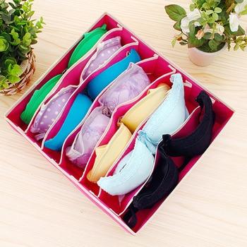 Multi-size Bra Underwear Organizer Foldable Home Storage Box Non-woven Wardrobe Drawer Closet For Scarfs Socks 5
