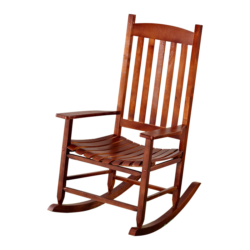 Garden And Patio Wooden Rocking Chair Solid Wood Rocker American Country  Style Antique Vintage Adult Recliner Rocking Chair Seat In Garden Chairs  From ...