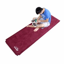 6.5cm Thick Suede Copper Valve Pad Automatic Inflatable Cushion Outdoor Camping Tent Mat Anti Moisture Pad цена