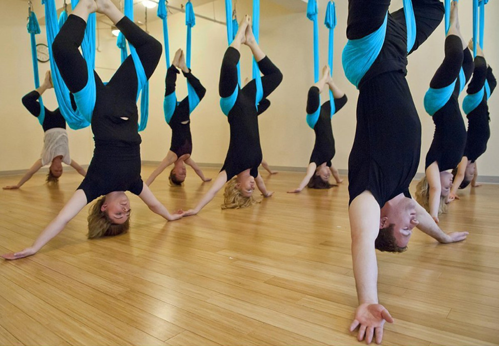 15 cor 6 alças anti-gravidade aérea yoga