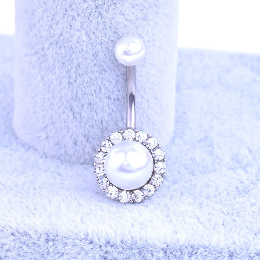 HTB1zkhzRFXXXXayapXXq6xXFXXX0 Elegant Pearl Button Ball Belly Button Ring Jewelry - 3 Styles