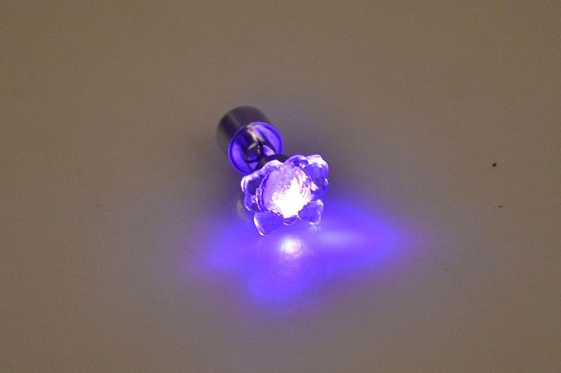 Cool Fashion Unique Design LED Earrings Light Lamp Light Up Bling Ear Studs Dance Party Accessories Women 10pcs/lot