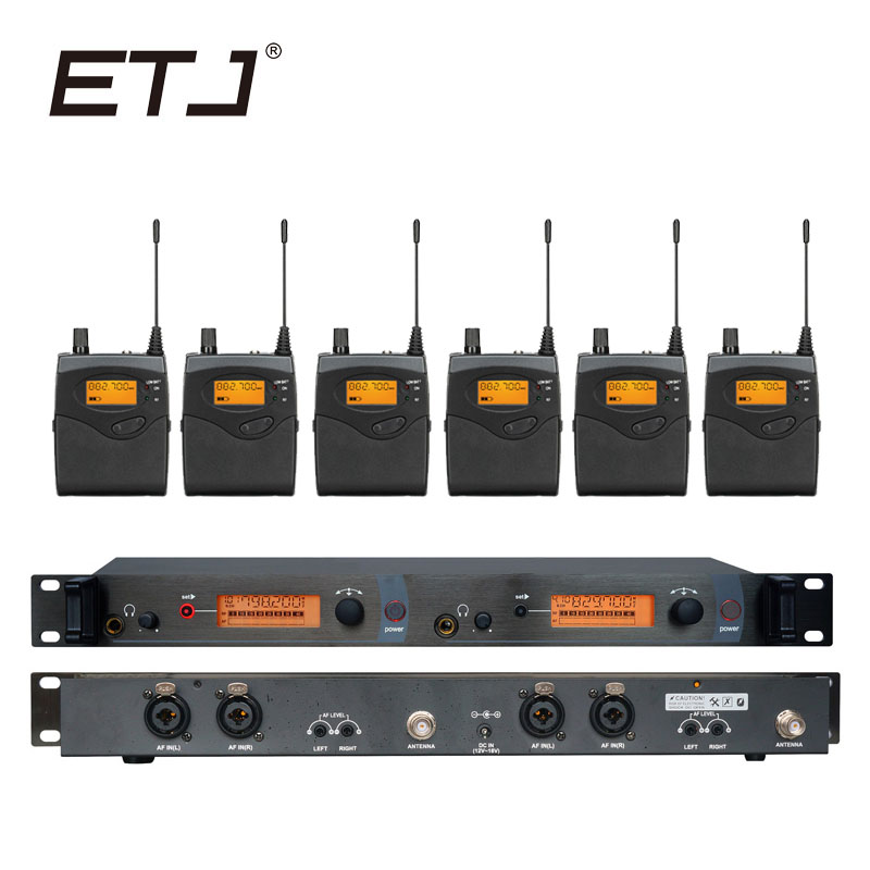 In Ear Monitor Wireless System Professional for Stage Performance SR2050 IEM With 6 Receiver in Microphones from Consumer Electronics