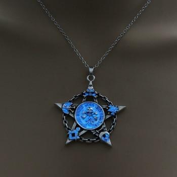 Luminous Star Skull Pendant Necklace7