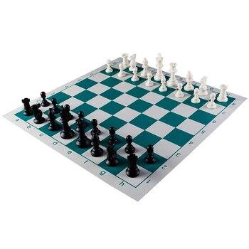 Jeu d'échecs avec plateau vinyle pliable 1
