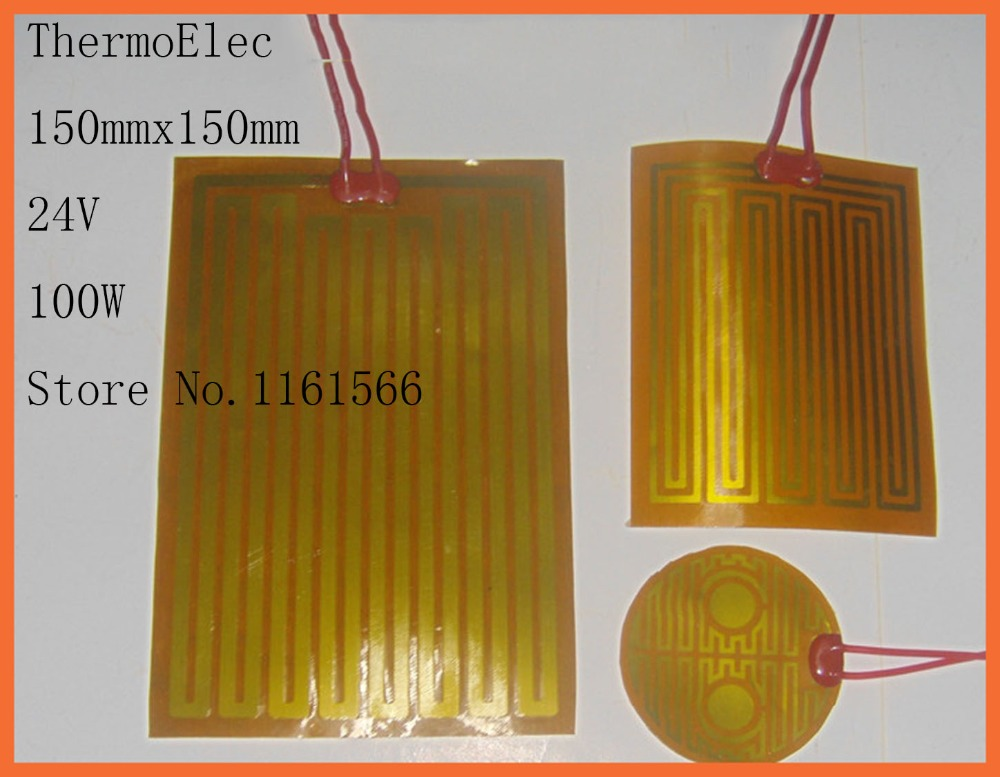 ФОТО 150mmx150mm/24V 100W element heating PI film polyimide heater heat rubber electricHealth care industry Industrial Heater