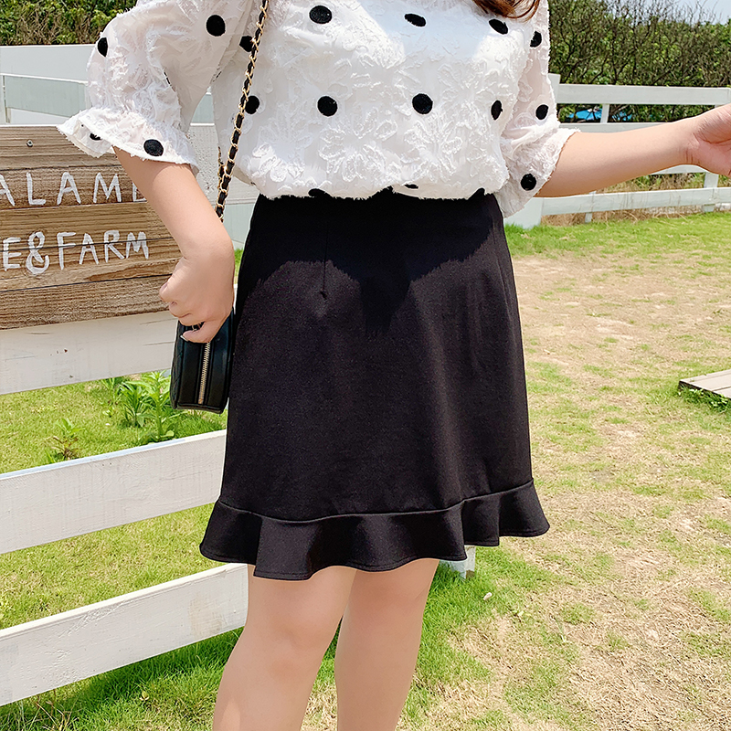 New fashion Korean womens plus-size skirt summer new dress 2101
