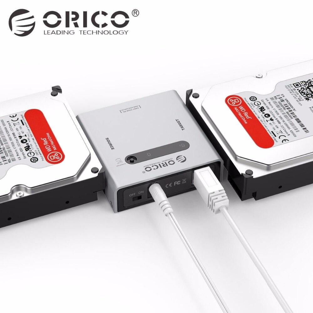 Orico 2,5 \ 3,5 диск Корпус USB3.0 к SATA3.0 SATA HDD репликатор с 12V4A Мощность адаптер SATA кабели просвет (2012US3)