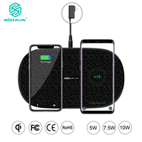 NILLKIN Fast Dual 2 in 1 Wireless Charger for Xiaomi 9 Mix 2S Qi Pad for Samsung Galaxy S10 5G S10+ S10e for iPhone XS Max Xr X